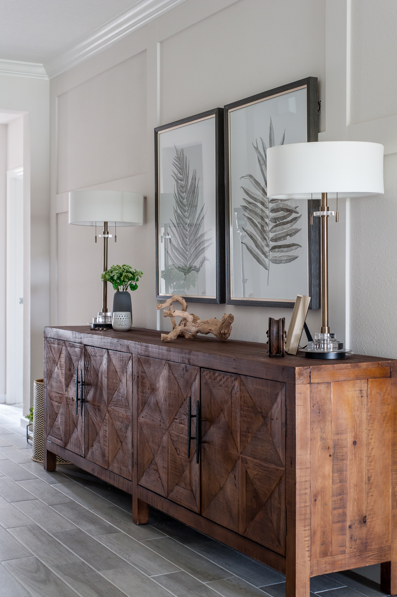 Micamy Design Studio_Model Home_Interior Design_Orchard Cove_Modern Coastal_Universal_McGee & Co_Classic Home_Uttermost_Foyer_Console.jpg