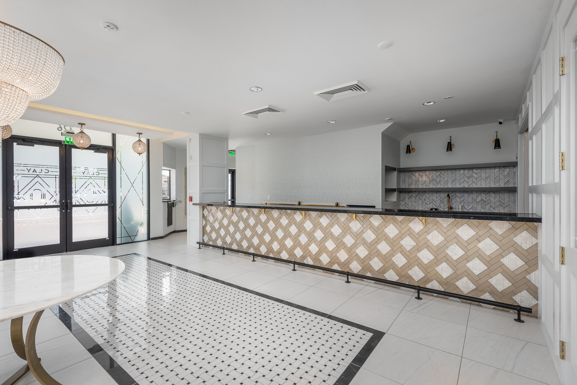 Micamy Design Studio_Interior Design_Clay Theatre_Event Space_Venue_Wedding_Art Deco_Modern_Marble Floors_Tile_Flower_Stairs_Bar.jpg