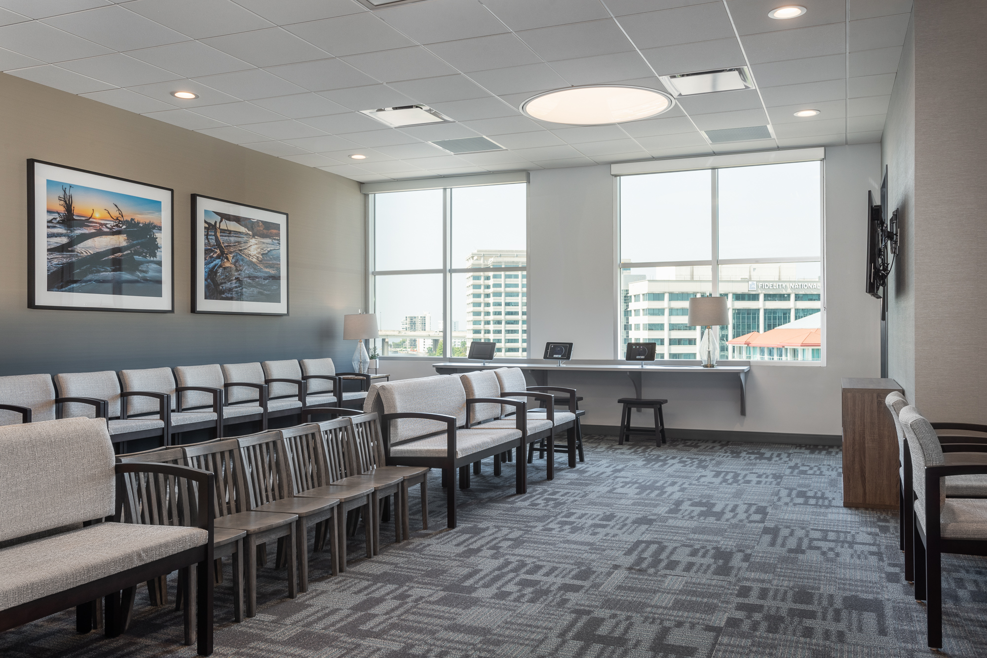Micamy Design Studio_Interior Design_Pediatric Eye Consultants_North Florida_Riverside_Ophthalmology_Strabismus_Office__Renovation_Patcraft_Seating_Waiting_Lounge_St Johns River.jpg