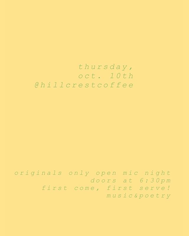 original material only! come on through ☺️☕️ doors at 6:30pm//music at 7pm