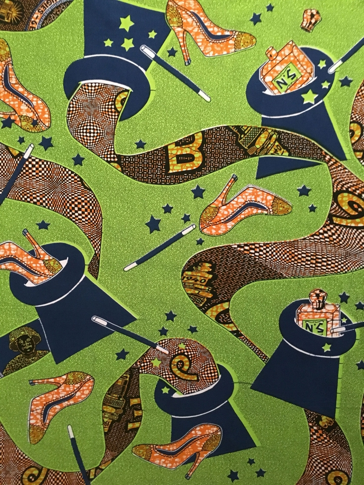 Textile pattern by Constance Girard for Vlisco