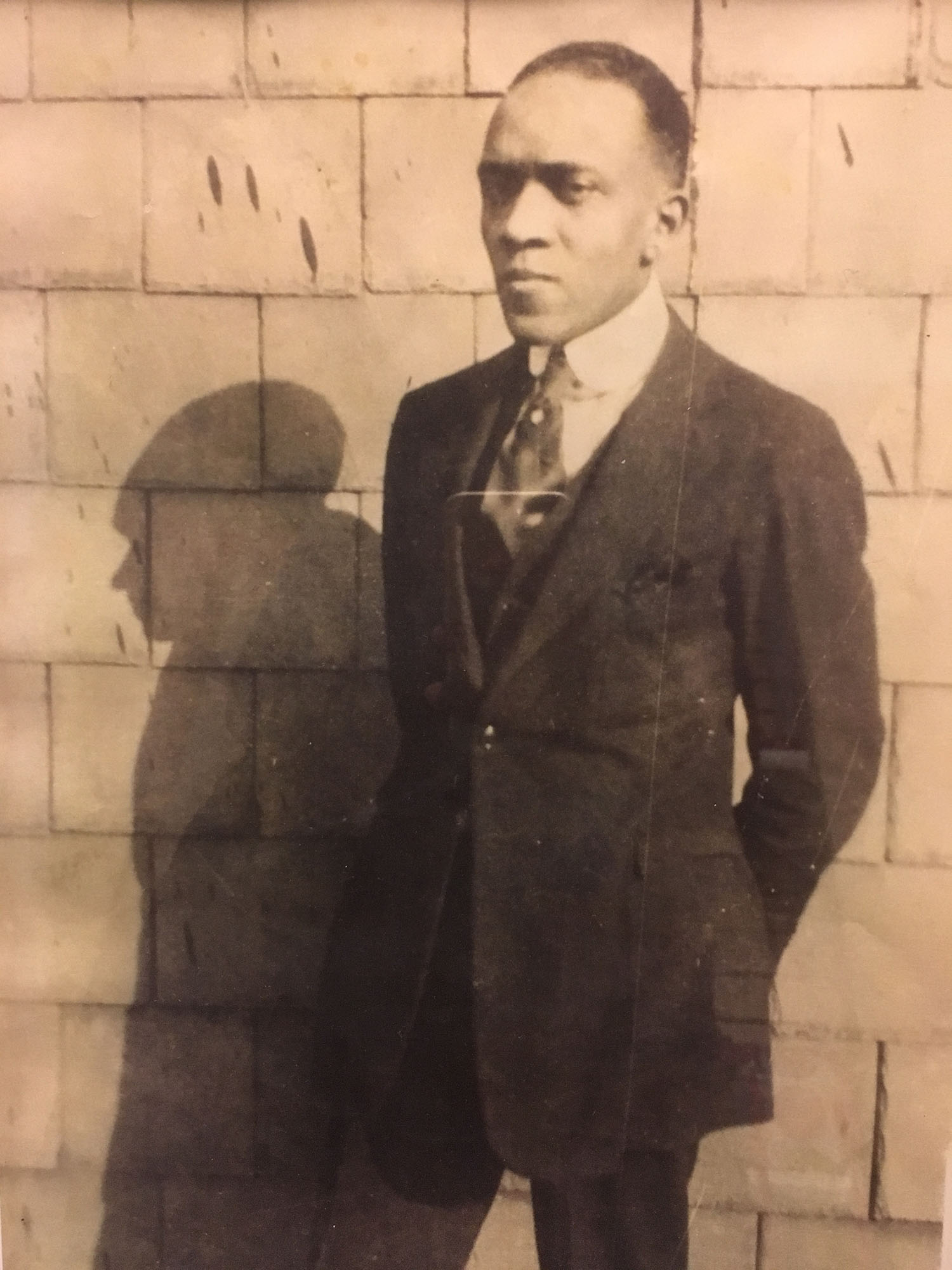 Douglass Robinson, a Pulman Porter, poses for a portrait in the Hill c. 1919. Courtesy of Ardelle Robinson.