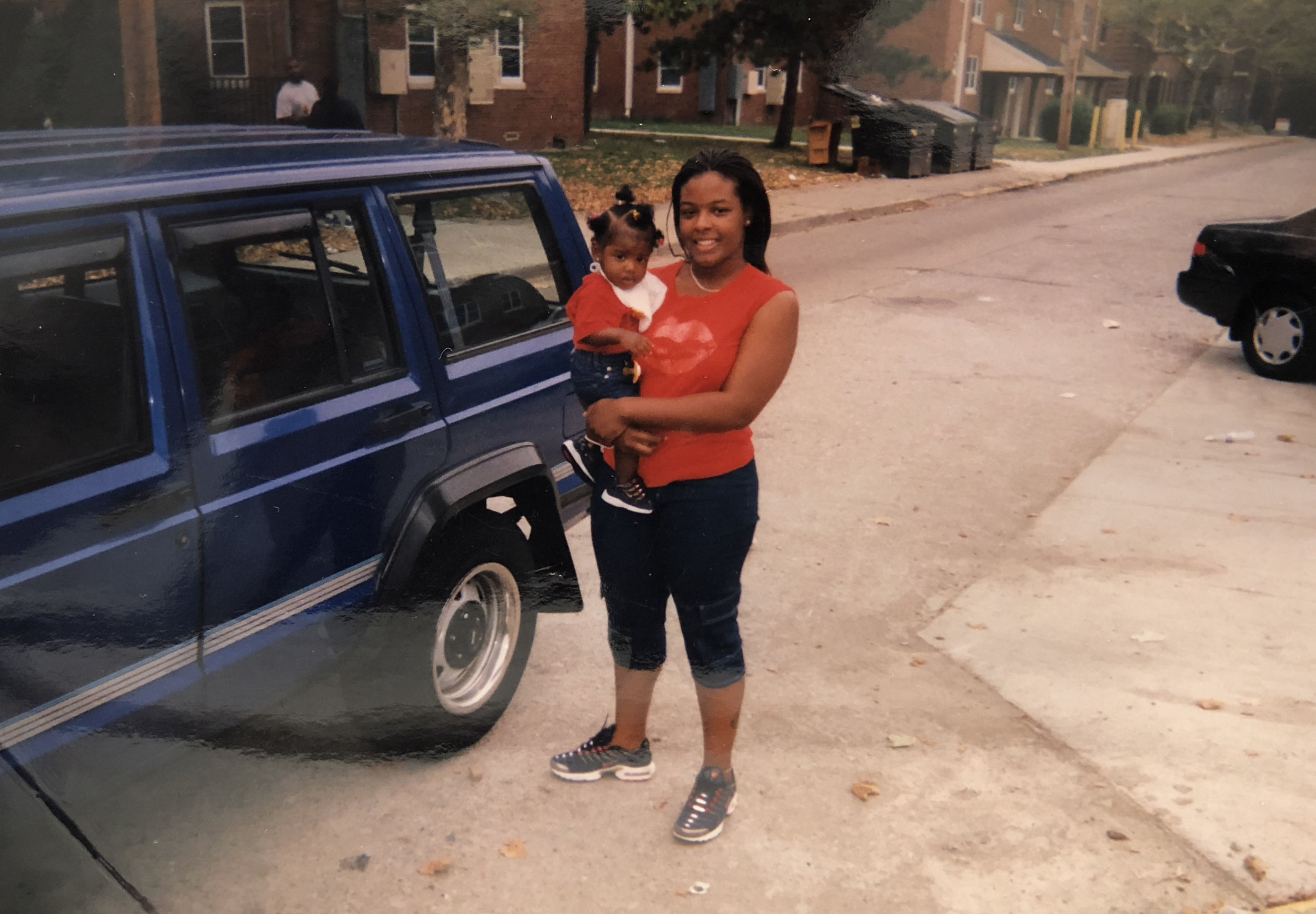 Clinetta Hill-Jackson pictured with her daughter on Bentley Drive. Courtesy of Clinetta Hill-Jackson.