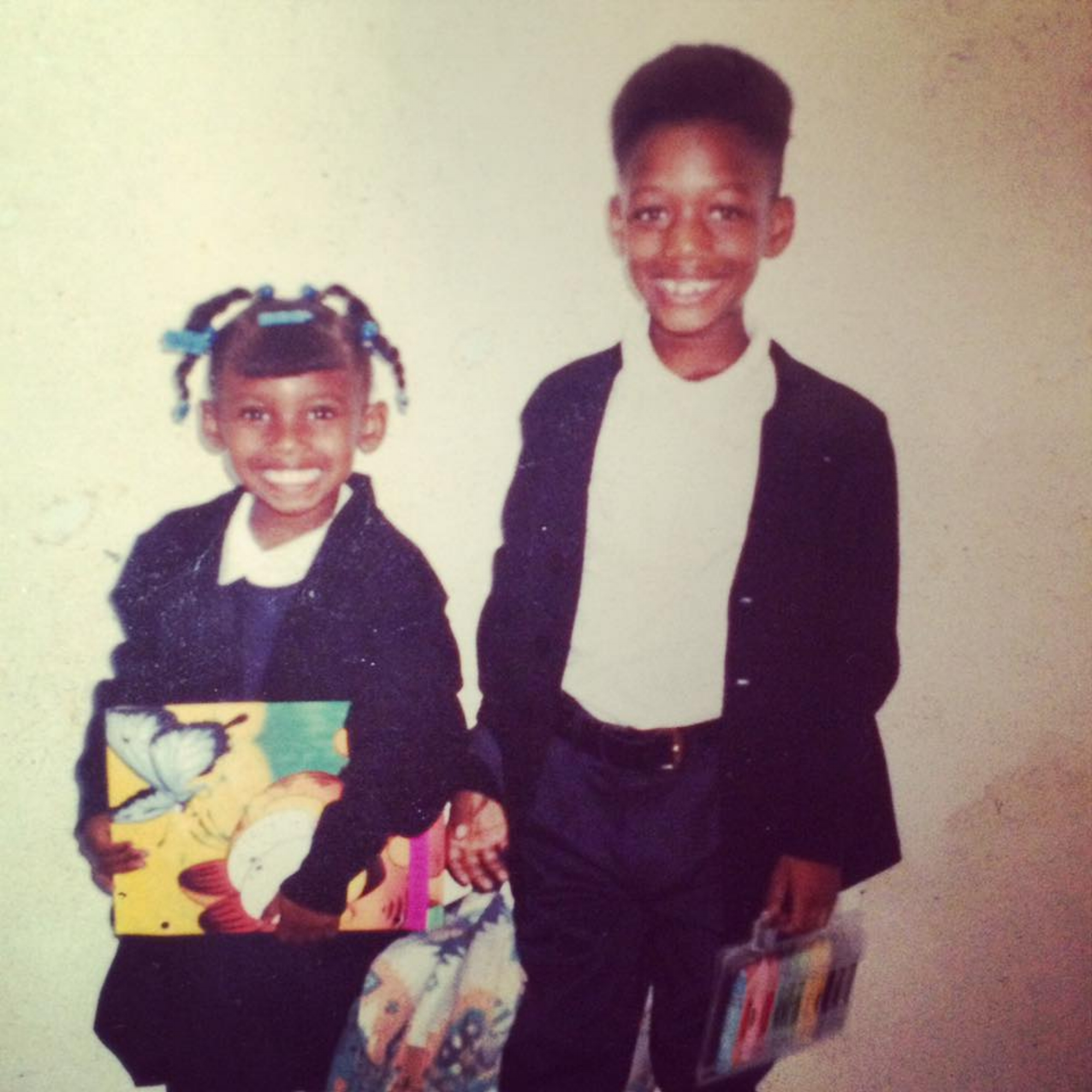 Marquel Jackson (pictured, right) and his sister Shaashia in the early 1990s. Courtesy of Marquel Jackson.