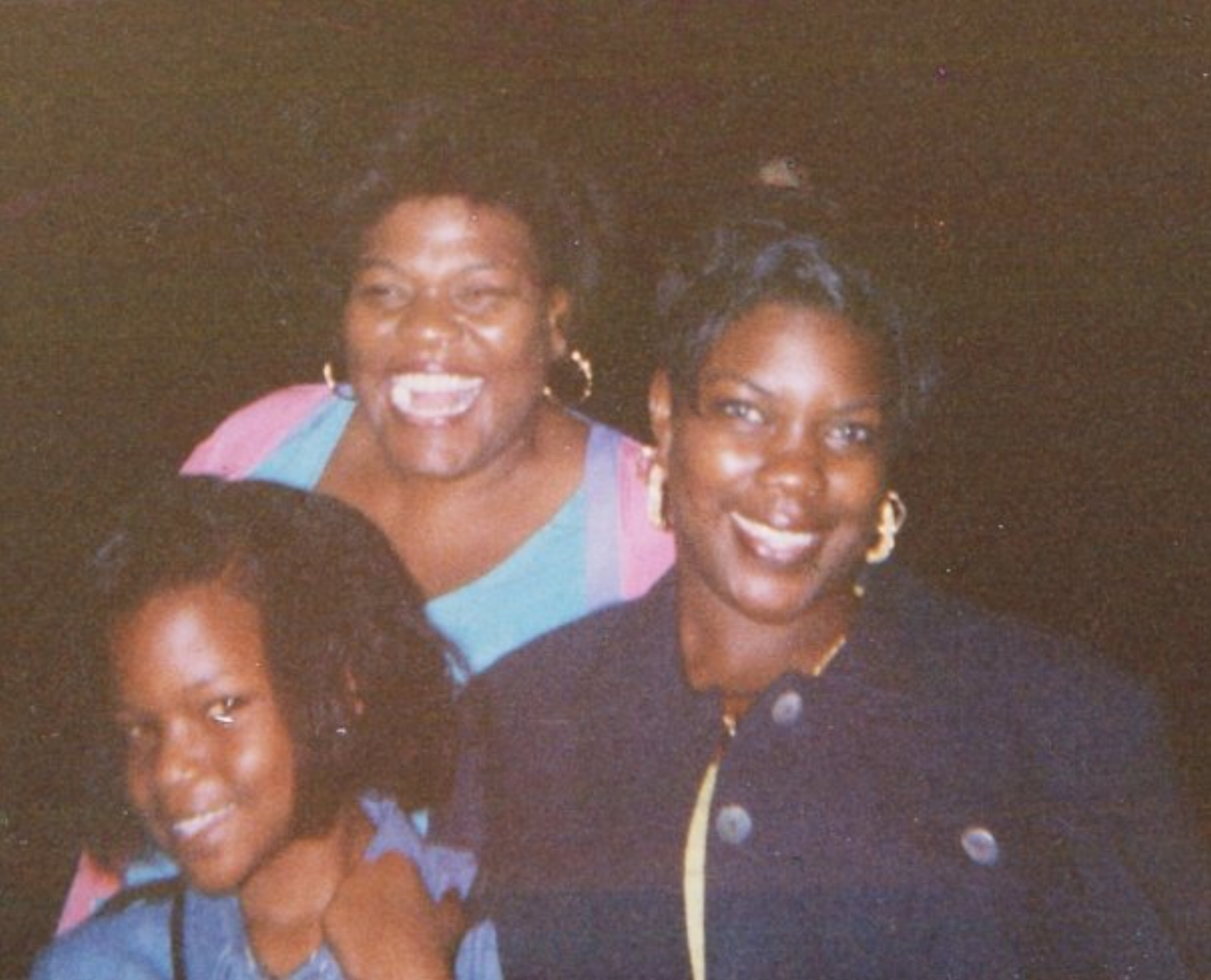 Tamiko Stanley (pictured, right) with her mother Pamela Renee Seals-Stanley, and her sister. Courtesy of Tamiko Stanley.