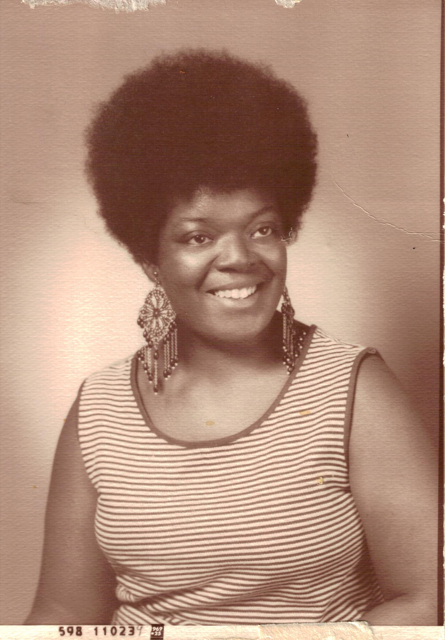 Margaret Brown's graduation photo from CCAC c. 1969. Courtesy of Margaret Brown.