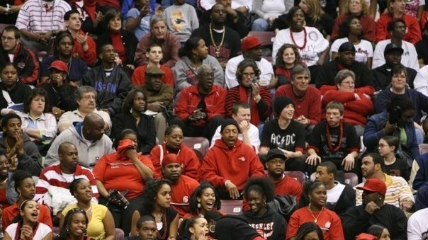 A portion of the Schenley High School crowd at the 2006 PA State Championship in Hershey, PA. Courtesy of D.C. Clancy.
