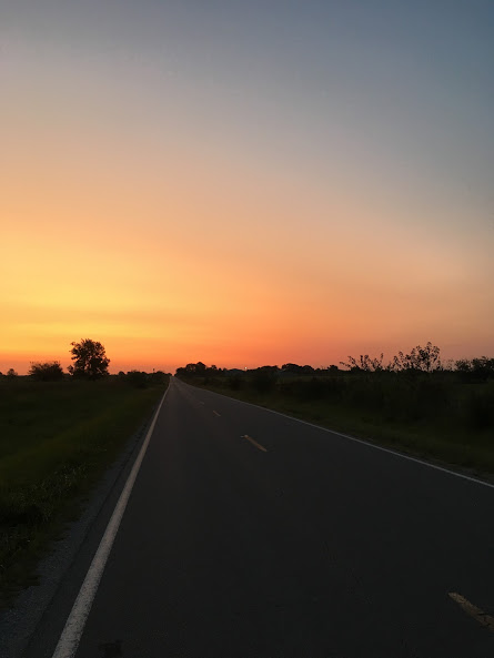 I love roads like this and skies like this