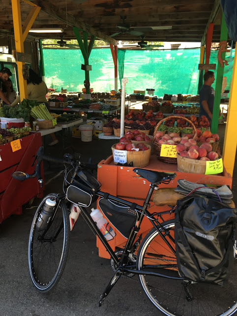 Roadside fruit stands are like the best part of bicycle touring