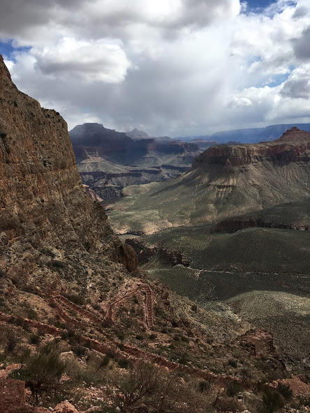 I was LOLing at the day hikers coming down S. Kaibab