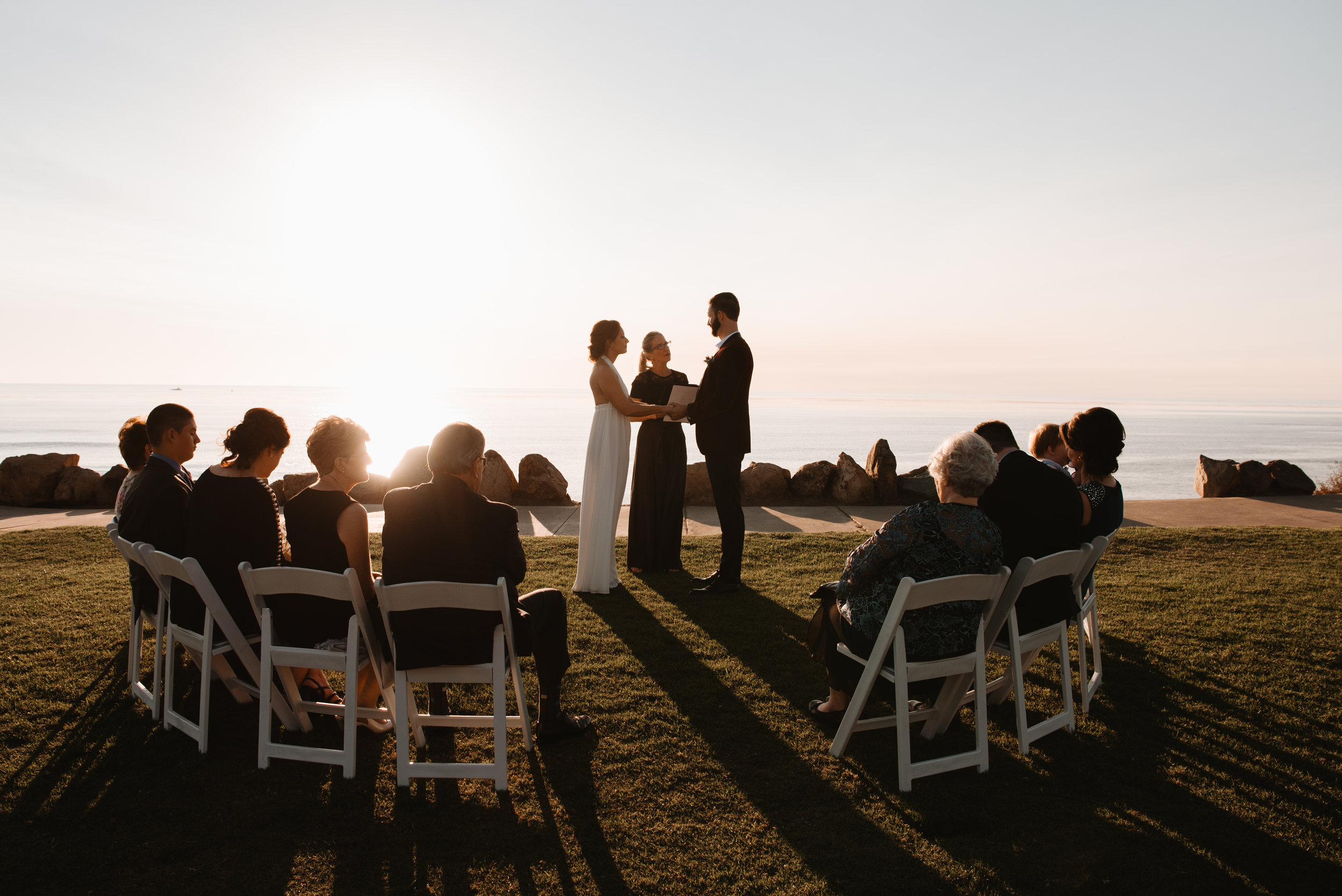intimate ceremony at Calumet park in San Diego