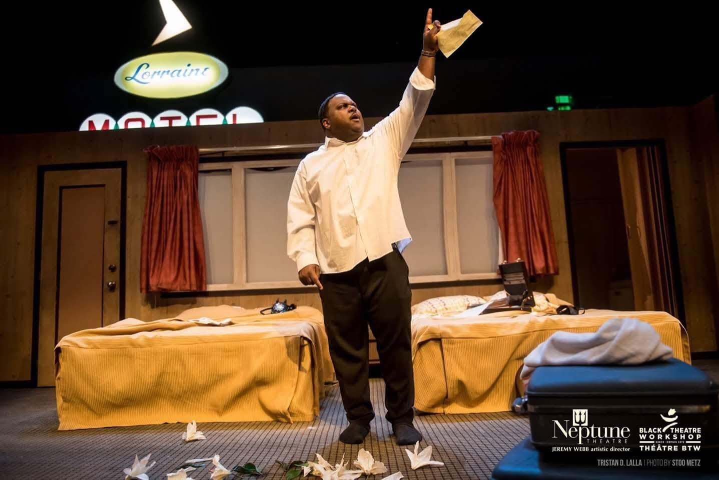 Tristan as Dr. Martin Luther King Jr. in 'The Mountaintop'