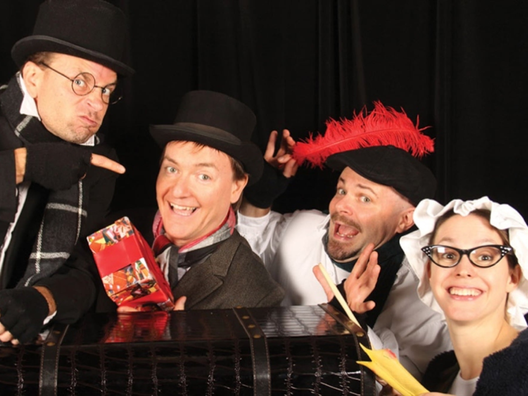 A Christmas CarolDuffleBag Theatre - November 30, 2019 - 2pmExperience a holiday classic with a twist in this witty and hilarious fun for all ages take on the iconic Charles Dickens Yuletide seasonal story of penny-pincher miser Ebenezer Scrooge.There will be plenty of laughs, spontaneous improv, and even a little audience participation, as you journey with Scrooge, and the ghosts of Christmas past, present, and future, as he learns the true meaning of the season.Come expecting the unexpected and you won't be disappointed!
