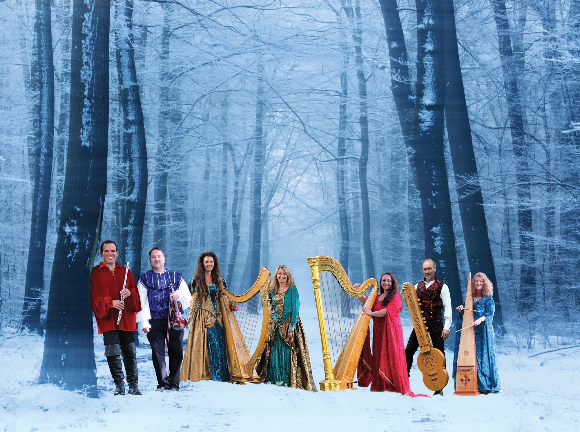 """Winter harp - December 15, 2019, 3pm & 7pmOne of the Lower Mainland's most beloved holiday concerts, Winter Harp takes you on a magical journey you will never forget.Join this world-class ensemble of singers, harps, flute, violin, medieval instruments and percussion for a concert of heartwarming carols and stories in celebration of Christmas. The musicians, in rich medieval attire, perform on a stage set with magnificent backdrops of cathedral and snow that will whisk you to a land of pure magic.For 25 years, tens of thousands of people have made Winter Harp their annual tradition. Winter Harp….. Christmas begins here.""""...an enrapturing event that plucks at your heart strings."""