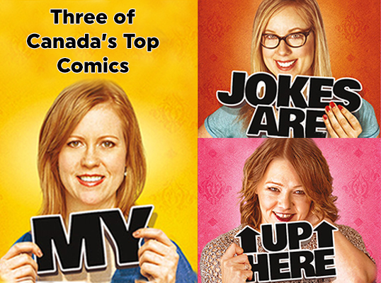 Comedy Night Triple Bill - My Jokes Are Up HereFeaturing Erica Sigurdson, Jen Grant & Christina Walkinshaw - February 14, 2020 - 8pmThree of Canada's Top Comics. One Night Only.This Valentine's Day, enjoy a night of endless laughs as three of Canada's top headlining comics bring buckets of wit to The ACT Arts Centre stage.Christina Walkinshaw, a popular comedy writer and regular on the CBC Radio hit, The Debaters, Jen Grant, comedy festival staple and one of the top five funniest people in Toronto (Toronto Life Magazine), and award-winning top-corporate entertainer and The Debaters regular Erica Sigurdson join forces to create an evening of hilarity.