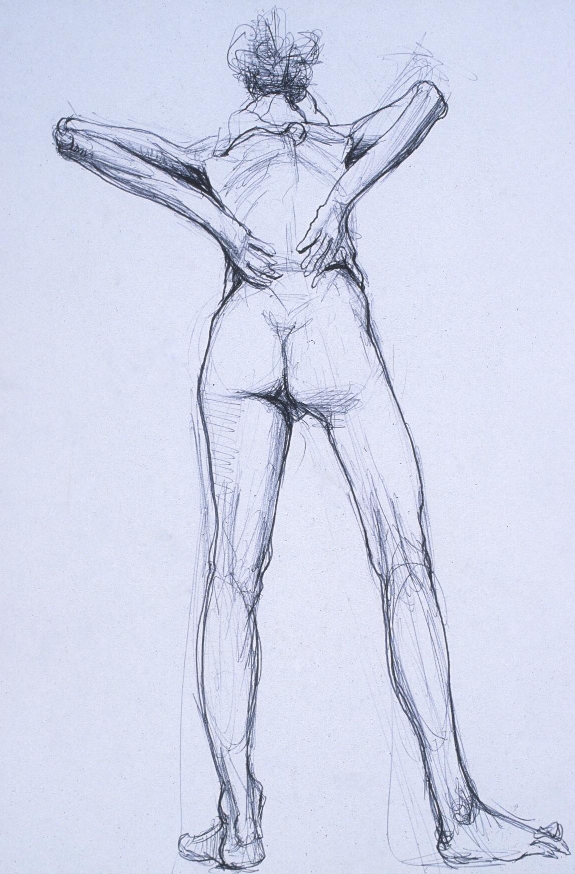 "Lou Ann Burkhardt  Matylda  , 2000 Pen and ink on paper 13"" x 16"" framed $395"