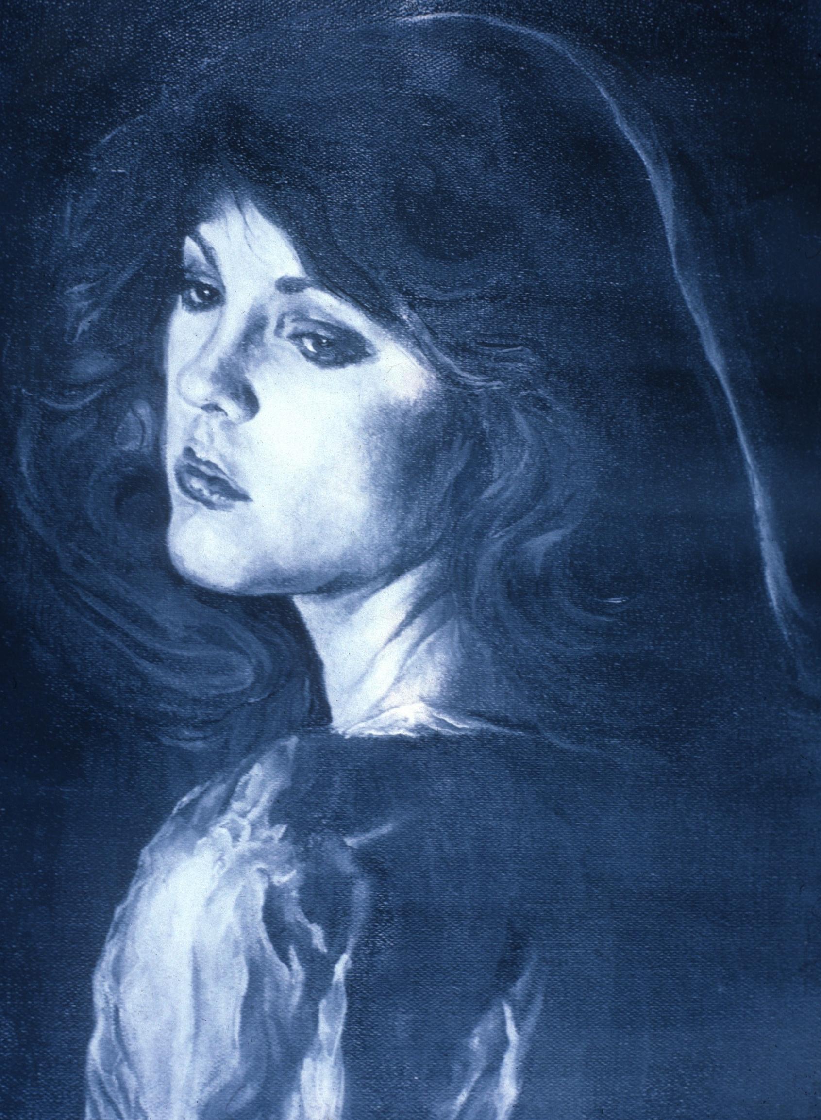 "Lou Ann Burkhardt  Regina – A Study Using Leonardo's ""Angel on the Rocks""  , 1980 Oil on canvas Giclée print available Size and price options vary"