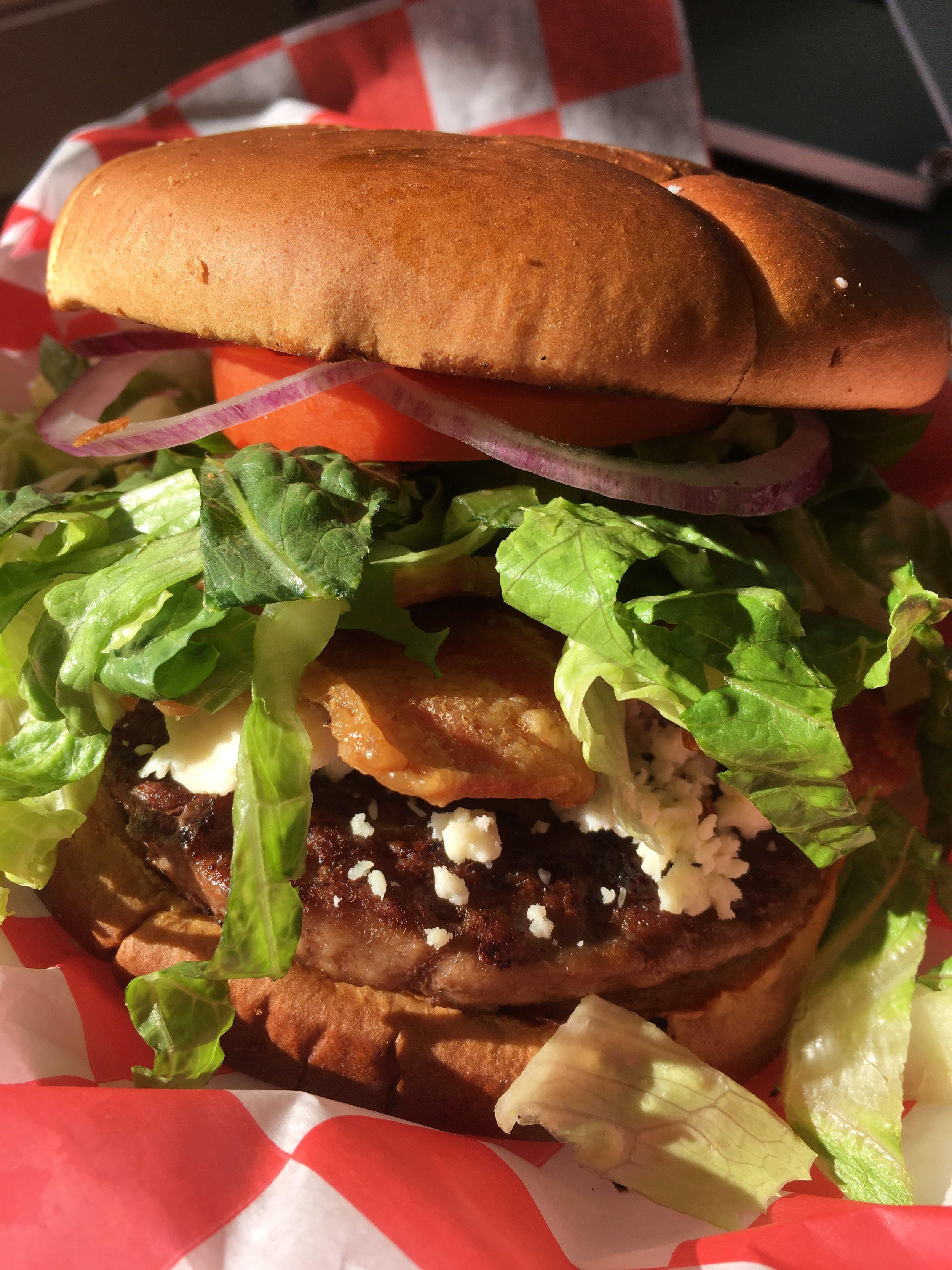 - Bacon Bleu Burger