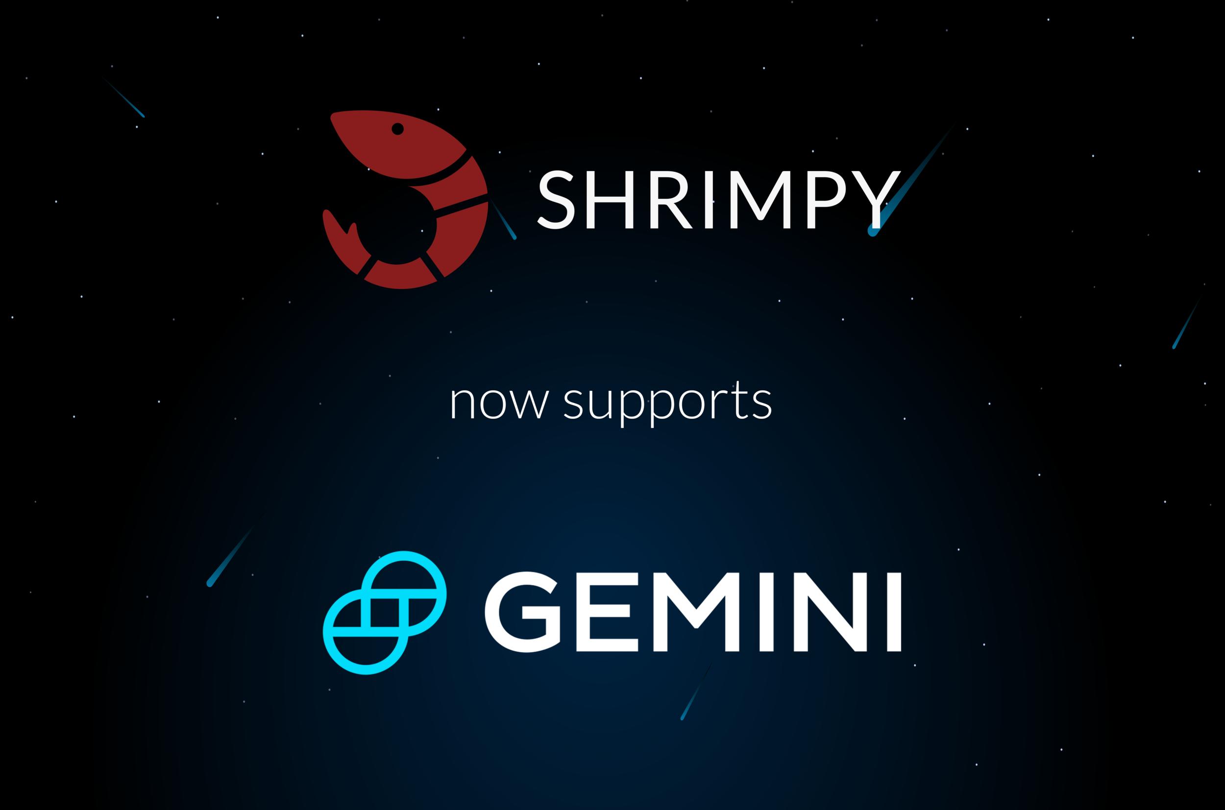 shrimpy-supports-gemini