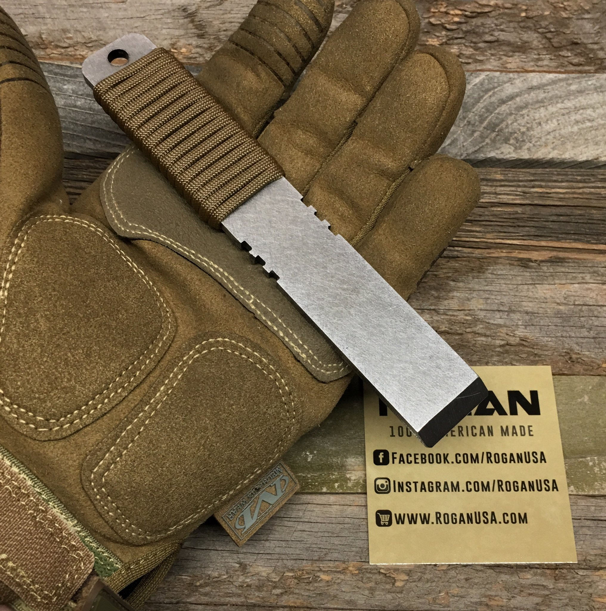 The Rogan Pack Tool is a compact sized bar tool that was designed to perform like a full size model but with a size that is more suited for everyday carry. The Pack Tool is all about mobility. Clip it on your backpack or belt loop with a carabiner, slide it into a single channel of molle webbing or simply throw it in your pocket and always be prepared. The Pack Tool makes a great companion to any folding knife or multi tool, save your knife for cutting fine things and let the Pack Tool handle the rest! The Pack Tool is a larger version of our Pocket Tools and combine the handle wrap of the regular pocket tool with the finger notches of the Pocket Tool Slim.