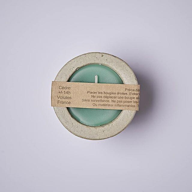 Small Candle Cedre . . . #candle #concrete #cèdre #sauge