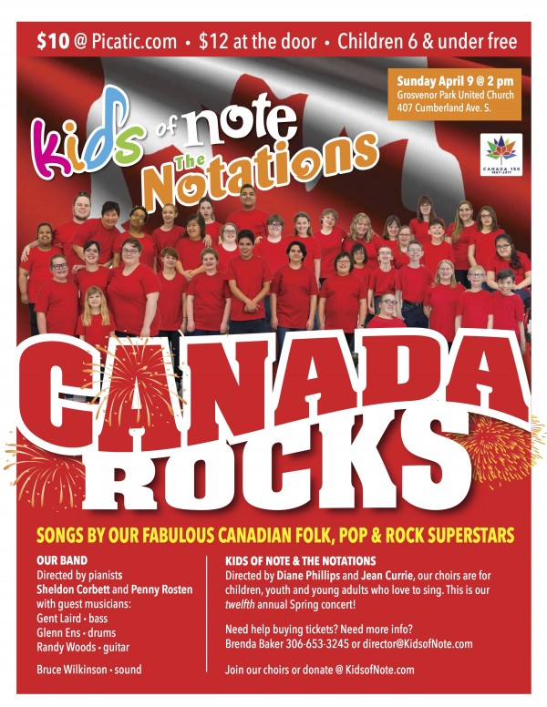 Canada Rocks - Songs by Our Fabulous Canadian Folk, Pop, and Rock Superstars - April 9, 2017
