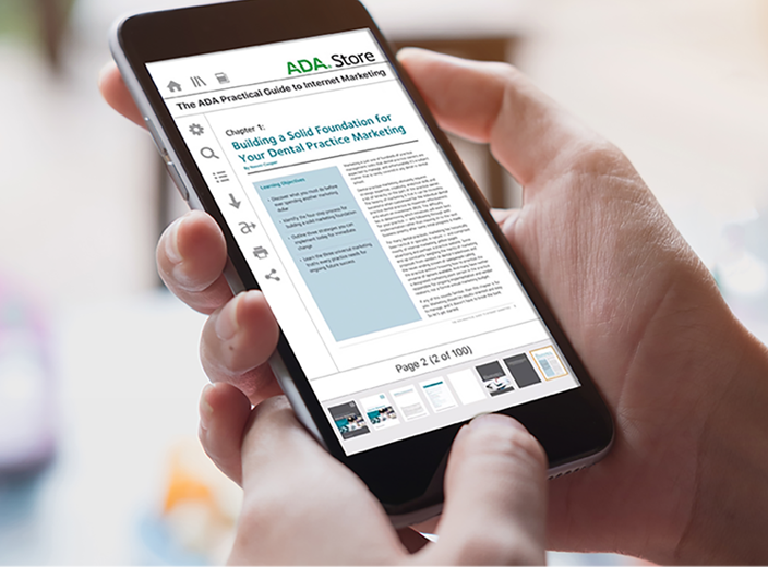 """Challenge:  The American Dental Association needed to improve access to content in a wide range of formats, ranging from videos to ebooks, while protecting intellectual property that contributes millions of dollars a year to ADA's mission.   Solution:  An integrated bookshelf page hosted on Tizra, providing unified access to a wide range of content. Tizra's streaming online reader, redemption codes, watermarking and download limits protect content without the inconvenience and support costs associated with traditional DRM.   Result:  Dramatically reduced user complaints and support costs. """"We needed something that was super easy…and that's what we got."""""""