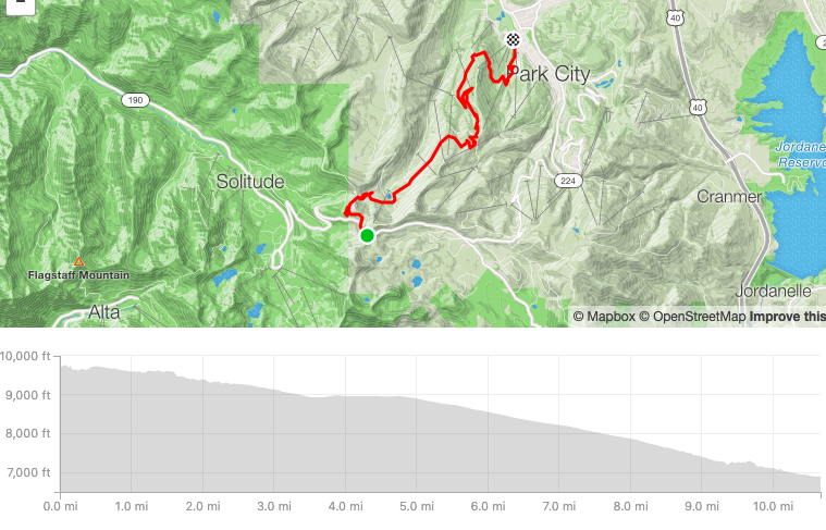 Strava map of day 3 route