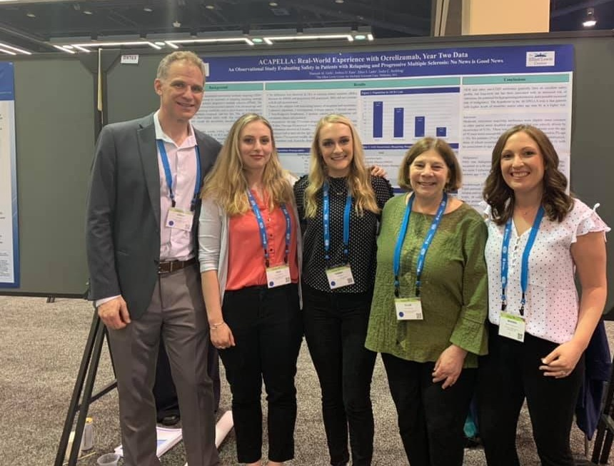 Presenting Research - The research team at The Elliot Lewis Center presented 3 posters at the annual Consortium of Multiple Sclerosis Centers in Seattle, May 28-31. Research coordinators have been collecting data on patients treated with Ocrevus and presented their findings at the meeting.