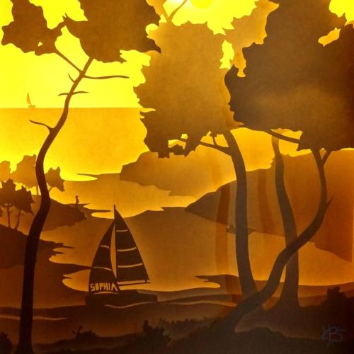 bateau kirigami - Heloise Bossard
