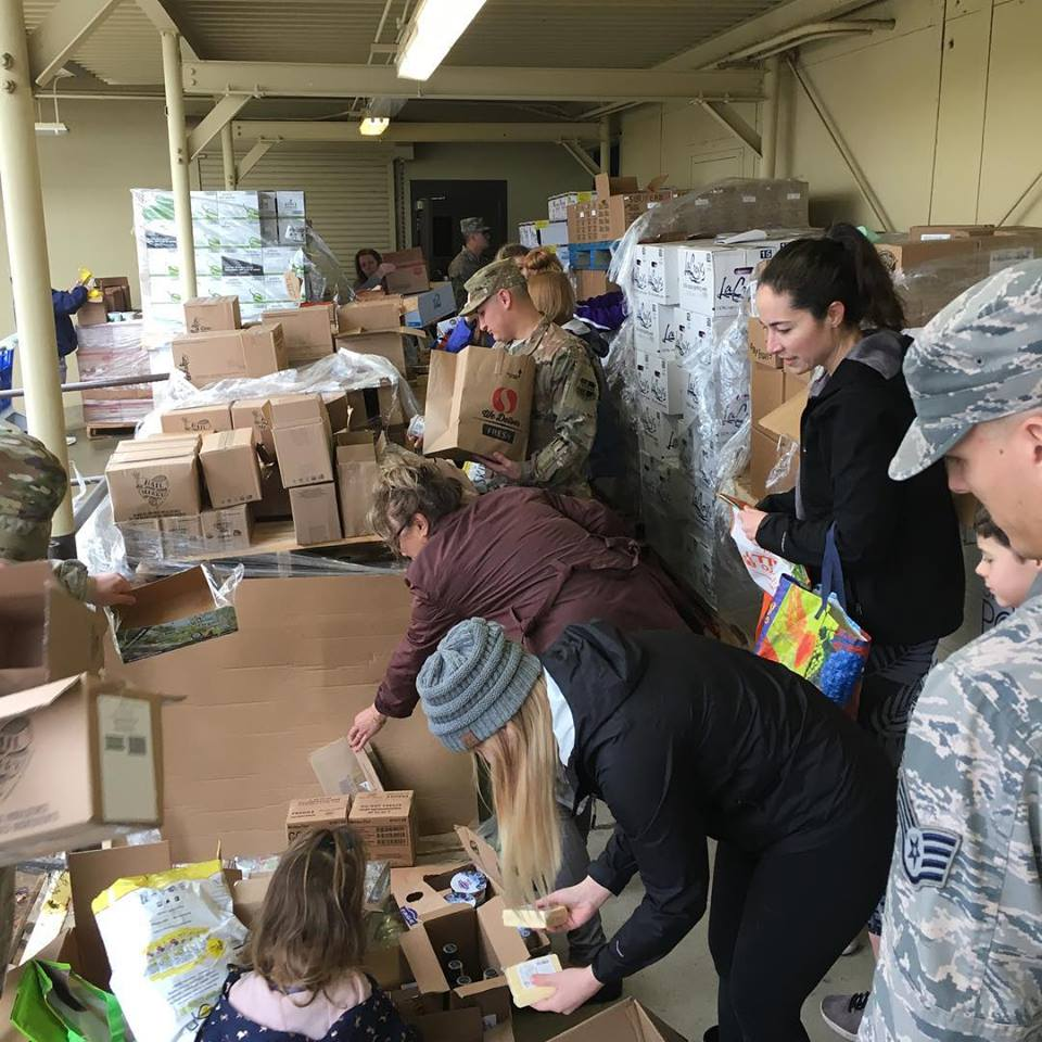 - We partnered with the Nevada County Food Bank to provide donated goods to the families of Beale AFB.