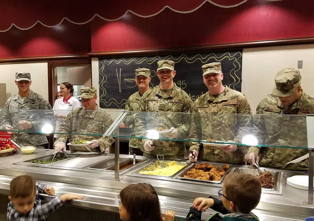 - The First Sergeant Council providing meals during the Hearts Apart Christmas Event.