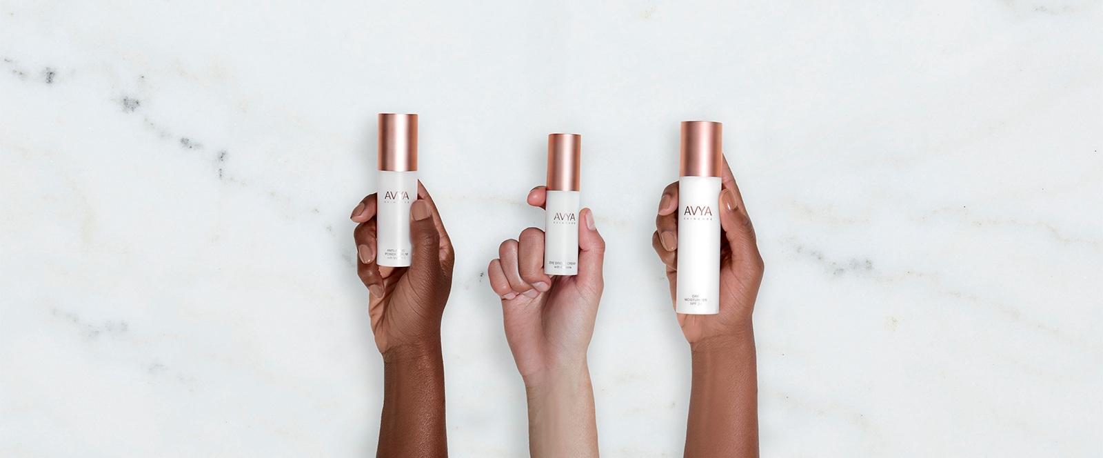 AVYA Skincare - Brand Development | Packaging | Visual Identity | eComm | G2M Strategy