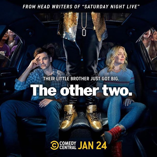 @chriskellyinstagram & @sarahdschneider created an absolutely hilarious show called The Other Two, and I'm so thrilled to have written the theme song as well as original songs throughout the series!  It also happens to feature my comedy queen @theofficialsuperstar and the insanely talented @heleneyorke, @drewtarver, and @casewalker!  Thank you to @gabelopez and @jordanjflame for helping me bring these ideas to life!  @othertwoshow premieres on Jan 24th on @comedycentral after Broad City!