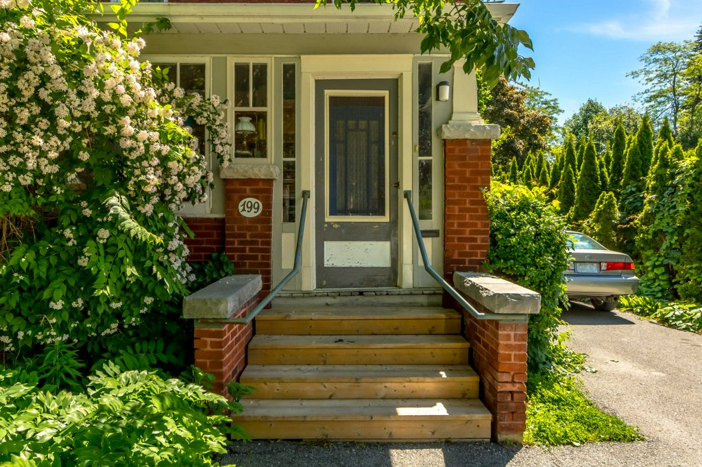199 Albert St - A lovely red-brick home with detached studio at the very edge of the university campus.Listed at $795,000.