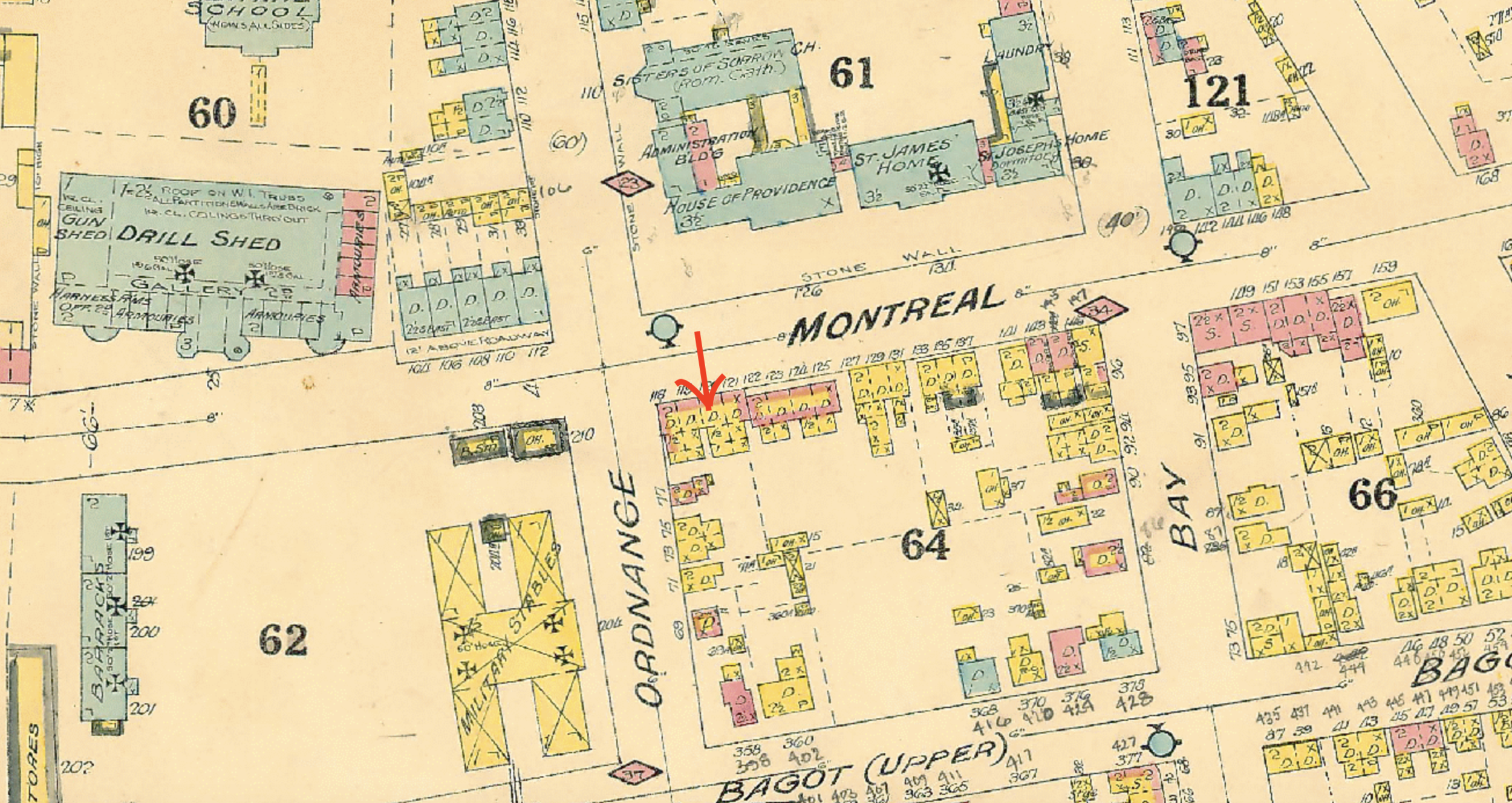 Fire INsurance map of 1908