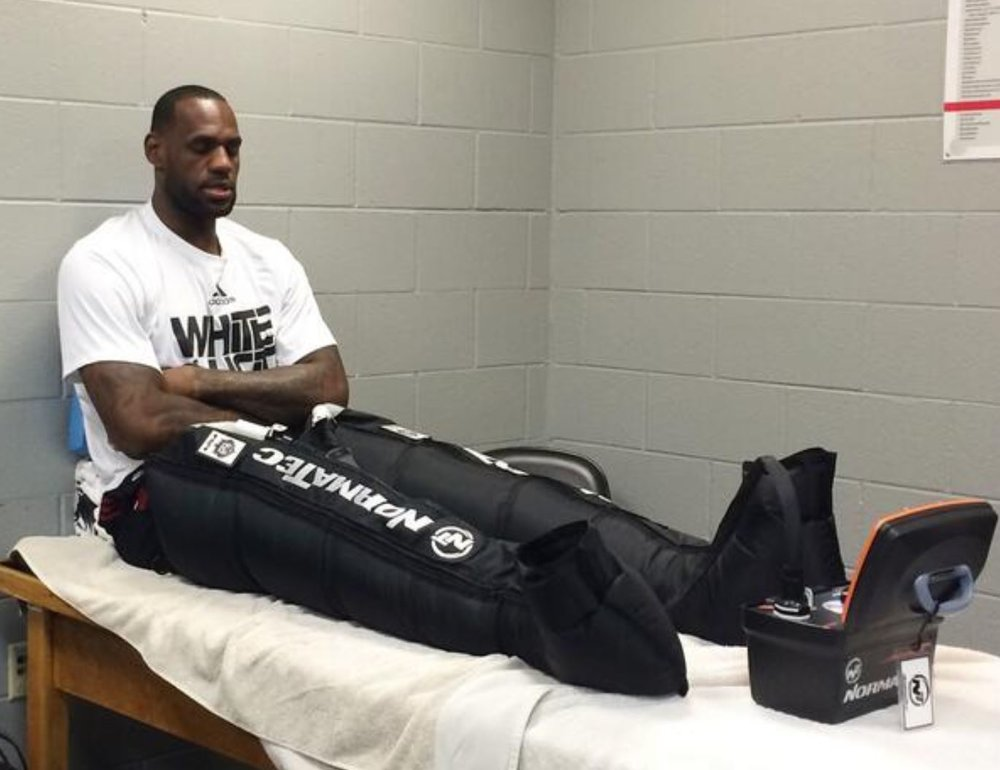 """LEBRON SIMPLY CALLS IT """"AWESOME"""" - And for anyone in LA, our new king's declaration may be reason enough to try the NormaTec Recovery Pulse System.Of course, at TRUE NORTH CRYO we are equally impressed that top athletes in almost every sport are using NormaTec's dynamic compression therapy to help in recovery between workouts, reducing muscle soreness and improving circulation."""