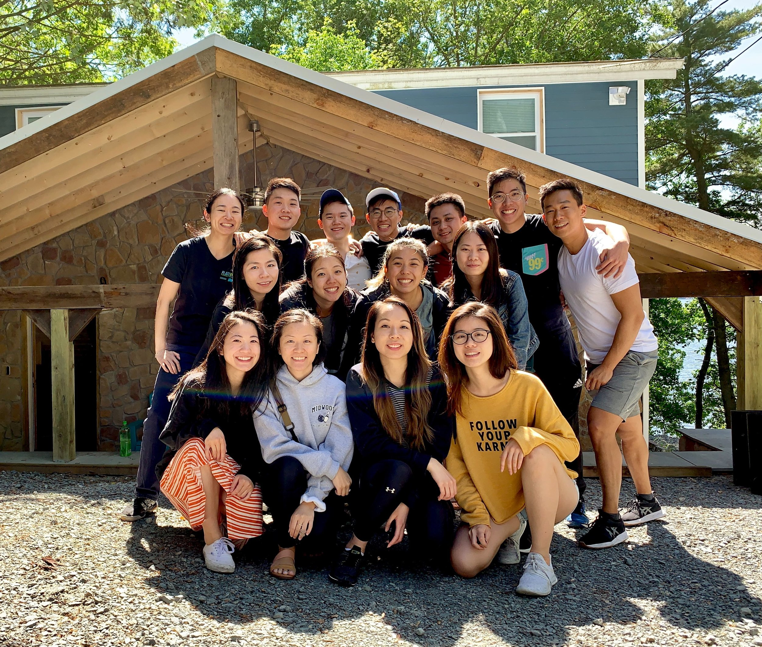 The NY team during their retreat at the Poconos