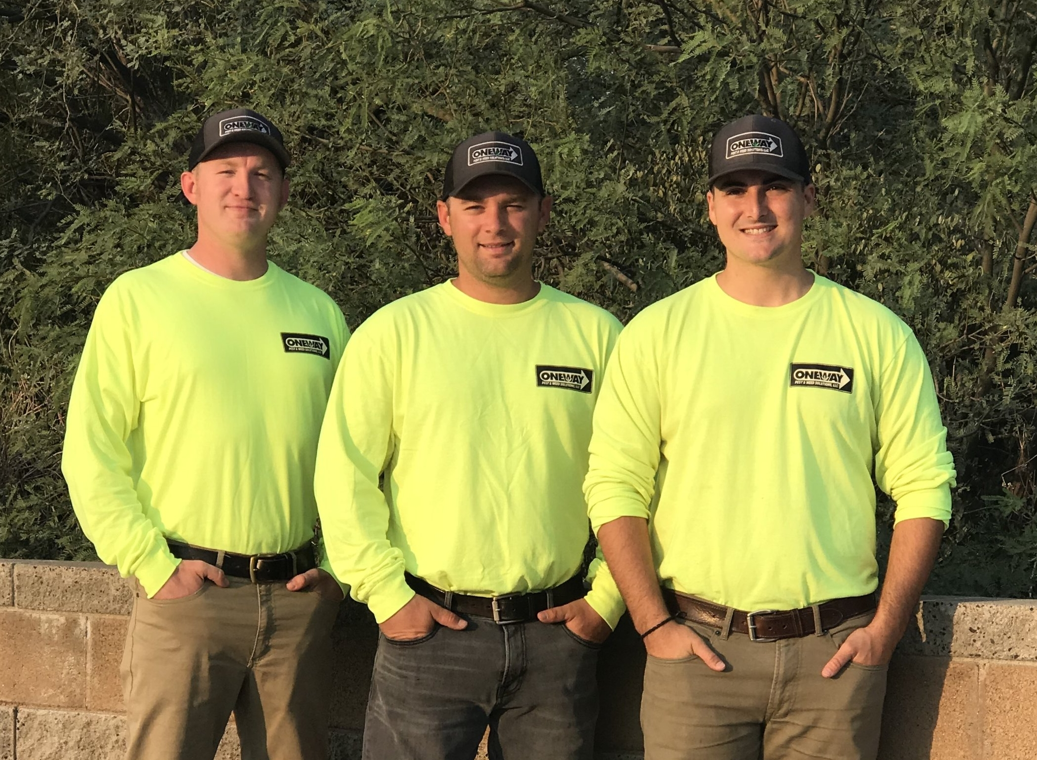 One Way Weed Control Crew, licensed weed control specialists.