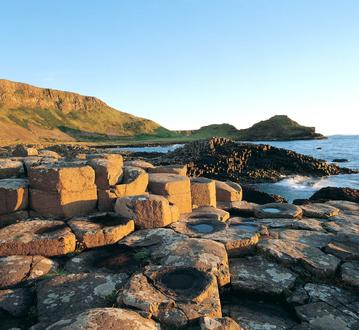 """The Giants Causeway, - A world famous UNESCO listed """"world heritage site"""" Magical and Mysterious and a geological wander.According to legend, the columns are the remains of a causeway built by a giant."""