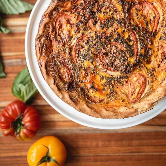 Today is a perfect day for a slice of our Tomato + Basil Quiche 😍 Head on over to our @gofooda pop up at Willis Tower on the 34th Floor. We'll be there today from 11am-2pm. You don't want to miss this!  . . . . . . #justiceofthepies #pies #pie #pielove #chicagopie #chicagobakery #bakingaddiction #freshlybaked #bakedfromscratch #foodie #pastryporn  #homemade #homemadepie #chicagobusiness #eaterchicago #illinoismade #enjoyillinois #madeinchicago #chicagofood #f52grams #buyblack #blackowned #woc  #dessert # #eeeeeats #feedyoursoul #eater #feedfeed #buzzfeast #quiche ⠀