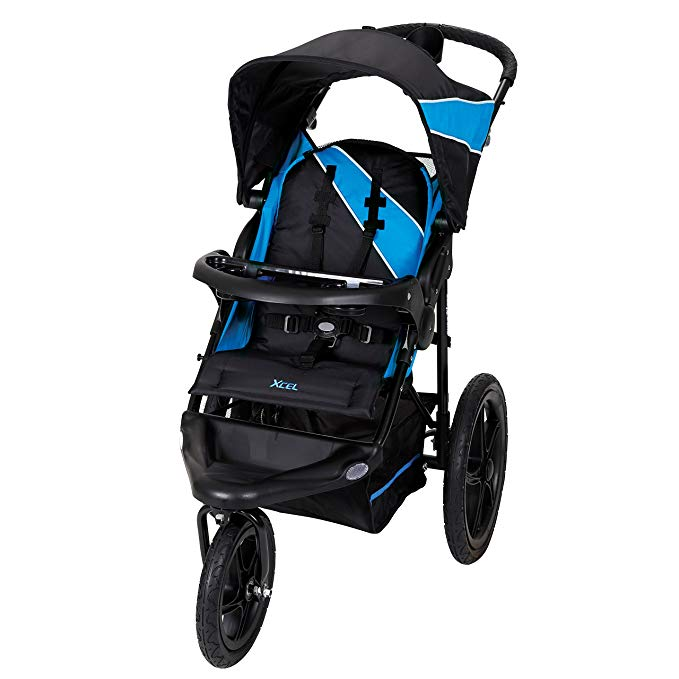 Baby Trend Xcel Jogging Stroller  - The tires need airing up about once a month, but this fairly cheap stroller gets the job done. I've run almost 200 miles with it so far and it doesn't have any signs of wear.