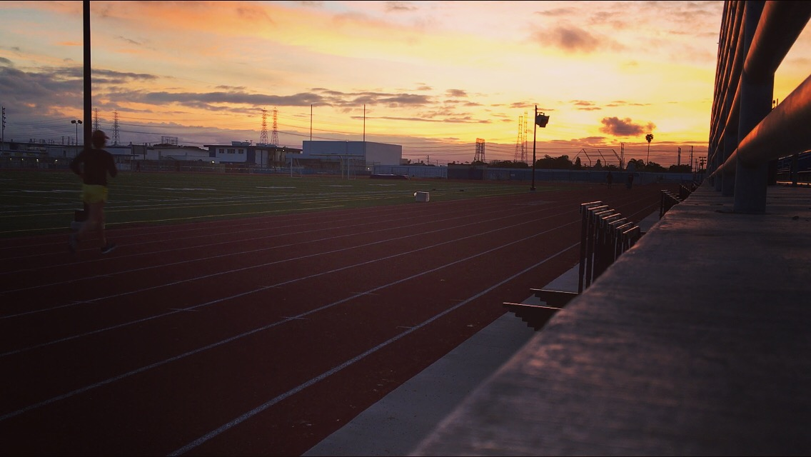 Running a double means I get to see the sunrise, it makes getting up before 6 AM totally worth it.