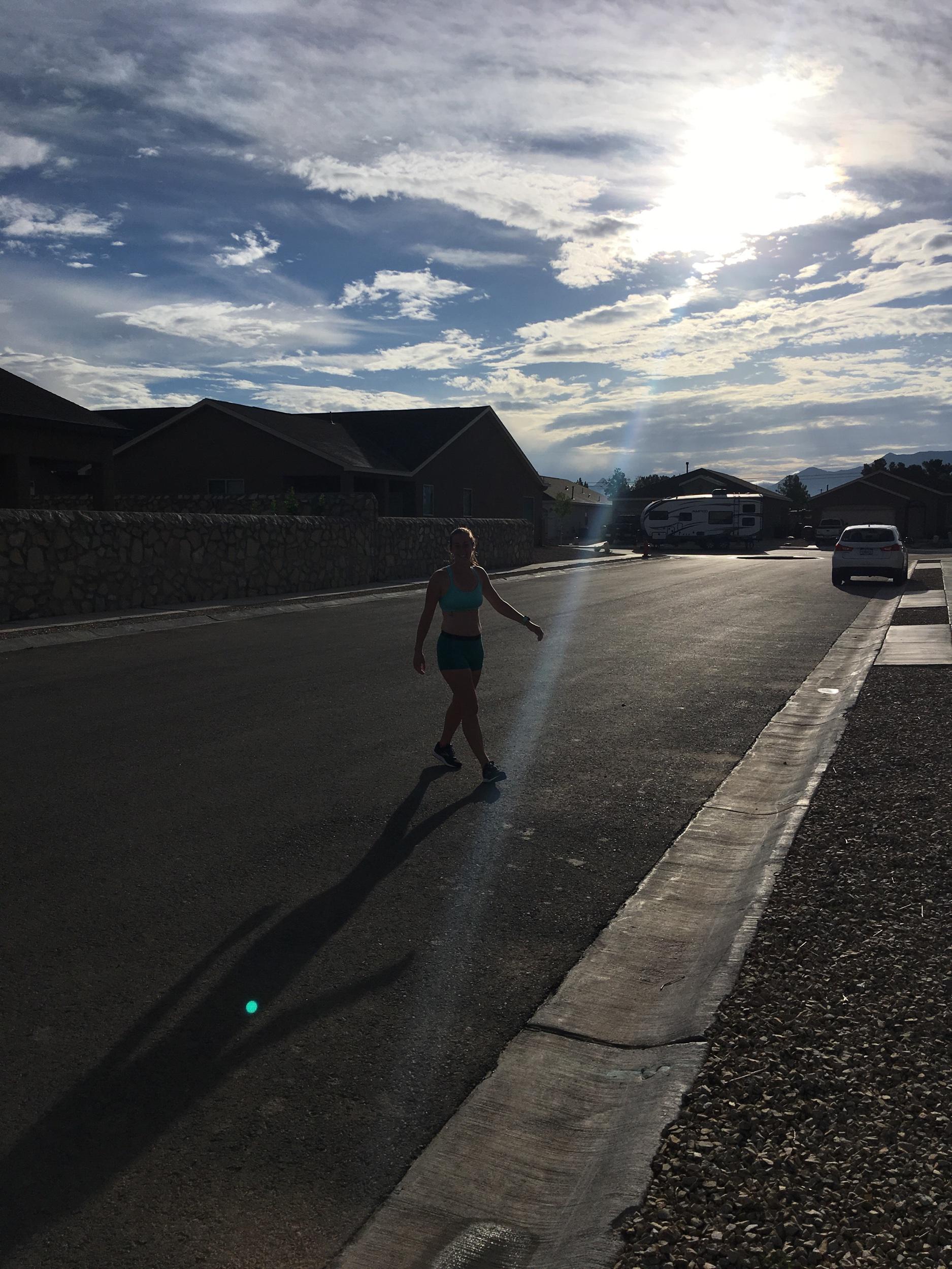Long run - Finish line