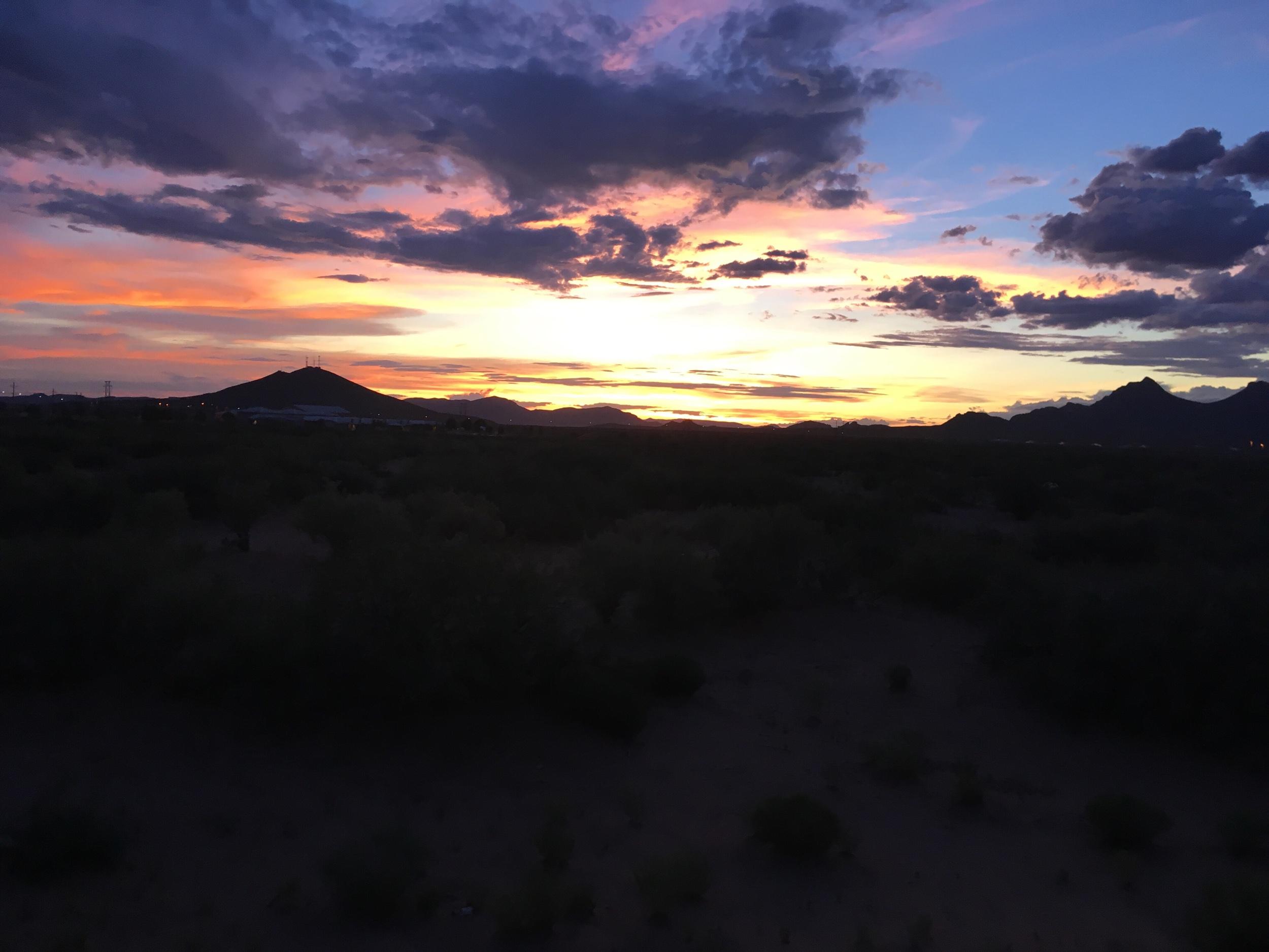 Sunset over Organ Mountains