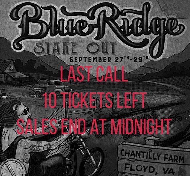Link in bio for your last chance to get tickets for the 2019 #blueridgestakeout