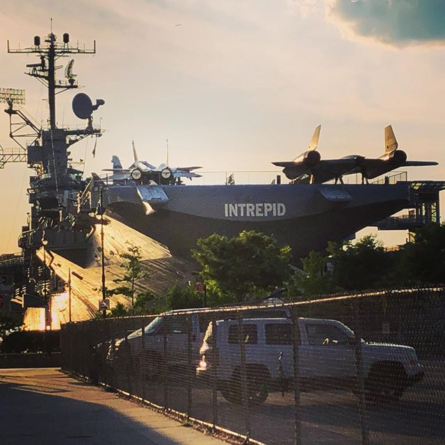 Just found out I live two blocks from an aircraft carrier. What's new with you?
