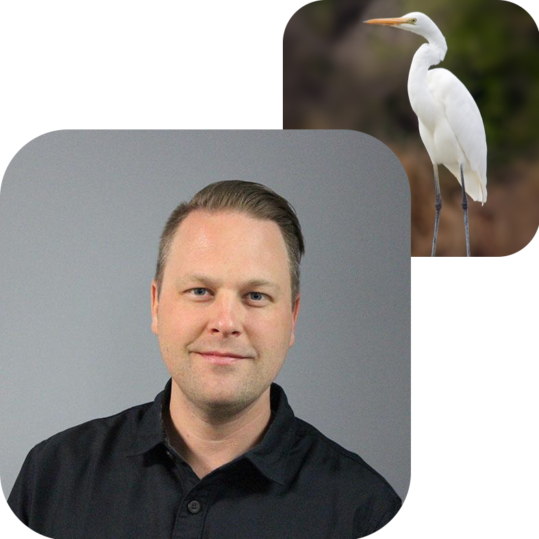ANDREW STRALEY, COMMUNICATIONS    Bird Twin:  Great (tall) White Egret   Why Commongrounds?  I want to be a part of and help build a community that inspires the people of Traverse City.   About Andrew:  Andrew is a digital marketer at  TentCraft  in Traverse City and proud early bird owner.