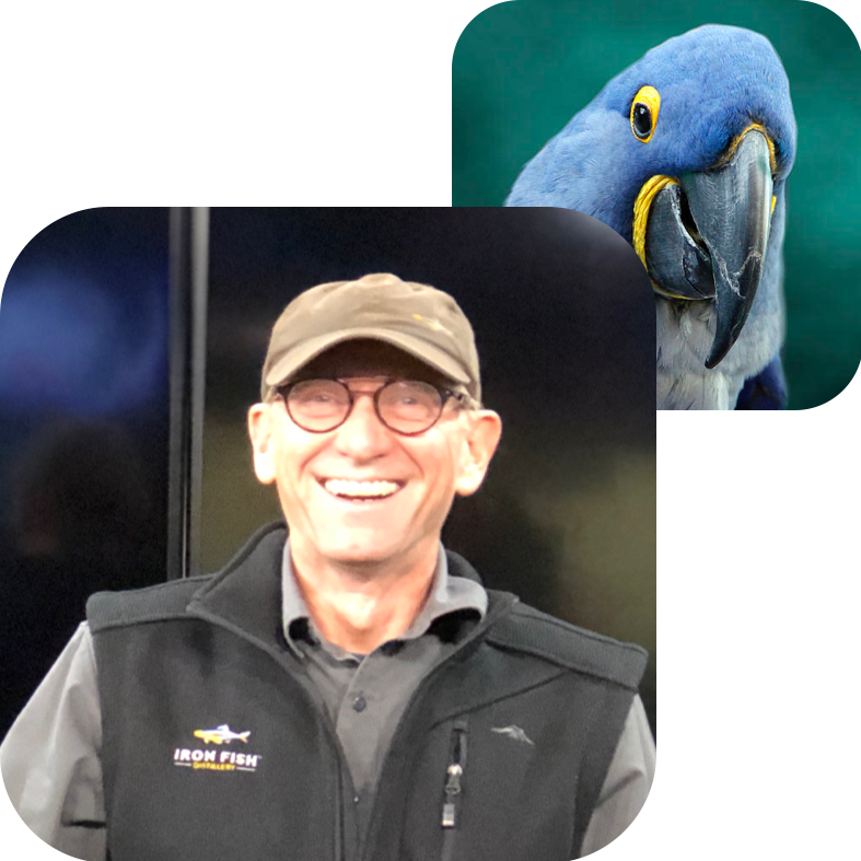 RICHARD ANDERSON, BOARD    Bird Twin:  Hyacinth Macaw   Why Commongrounds?  Joining the Birdhouse allows me to work with a crazy great and audacious group of people working to create a values inspired intentional community and with it, an urban landscape that supports the talent that makes Traverse City what it can be.   About Richard:  Richard Anderson is the Co-owner of  Iron Fish Distillery , Michigan's first farm distillery and future tenant in collaboration with Higher Grounds and a restaurant operator.
