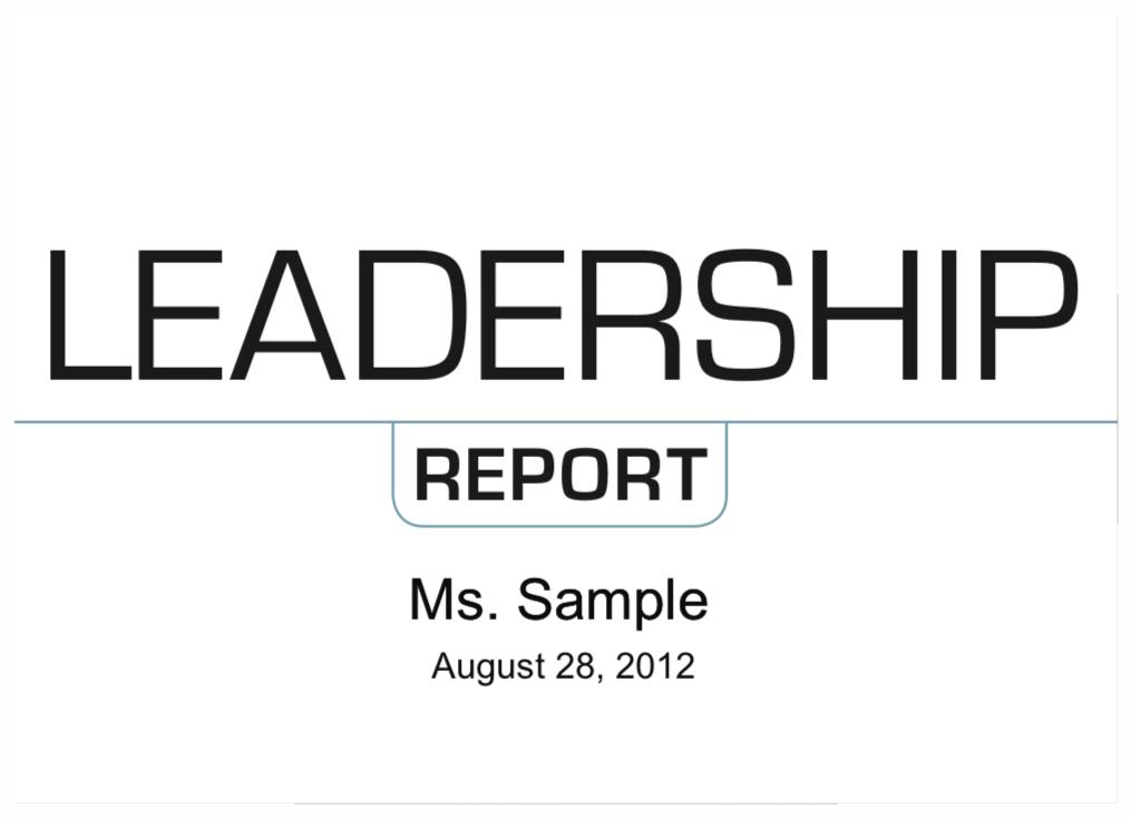EQi 2.0 Leadership Report Sample